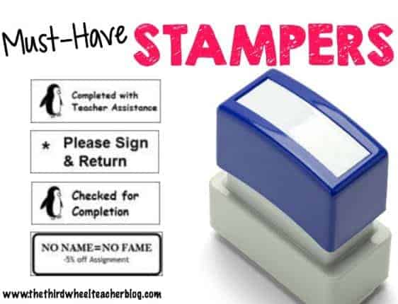 Must Have Stampers for Teachers