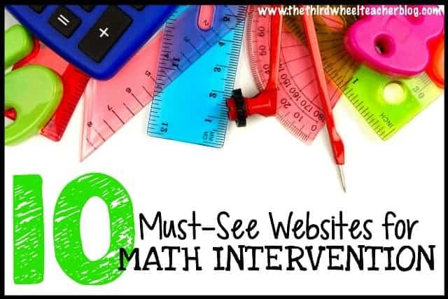 Must-see Math intervention websites