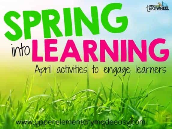 April lesson plans for the upper elementary classroom