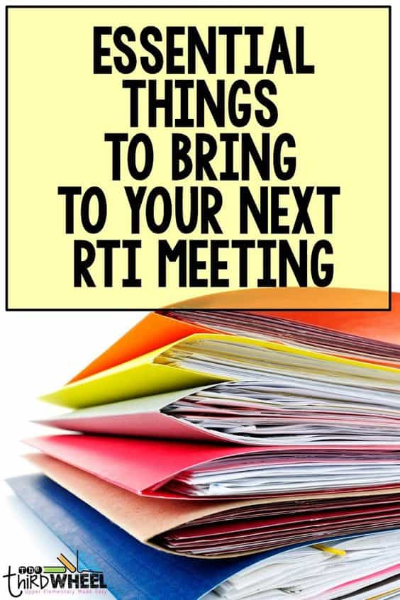 Essential things to bring to your next RTI meeting