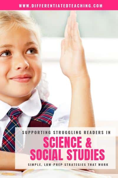 strategies to support struggling readers in science and social studies