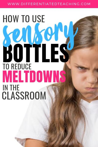 Discover what sensory bottles are, how they support emotional regulation, and get ideas for DIY calm down jars. Perfect for classroom teachers as they look for strategies to help students develop emotional regulation and those struggling with behavior