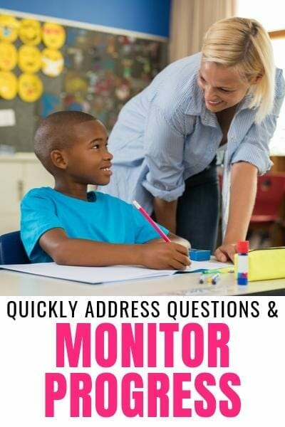 walking the classroom can help teachers quickly address misunderstandings and monitor student progress. This makes it a great formative assessment tool that doesn't require extra time or prep.