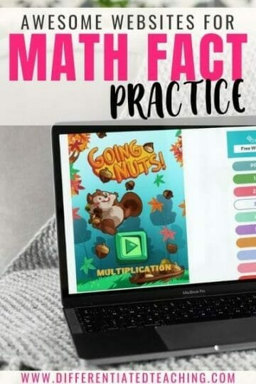 Websites for Teaching Math Fact Practice