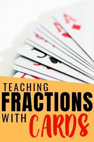 playing card fraction game