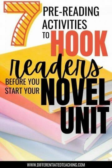 stack of novels for novel unit