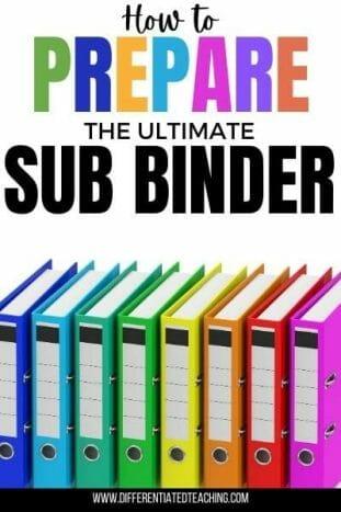 prepare a substitute binder