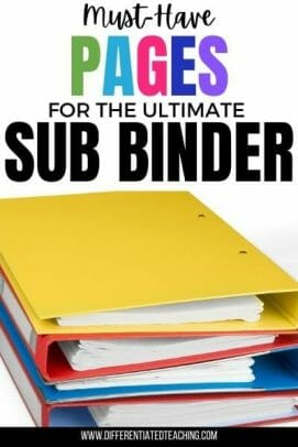 must have pages in your sub binder