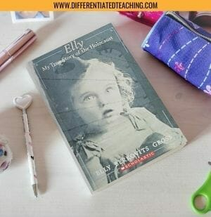 Desk with Elly: My True Story of the Holocaust on it