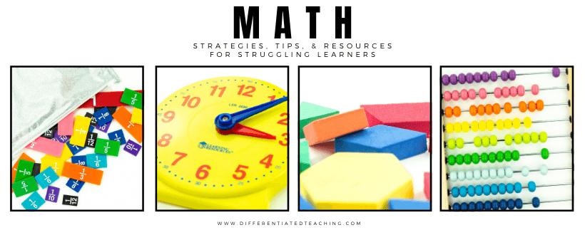 Teaching Math strategies struggling learners