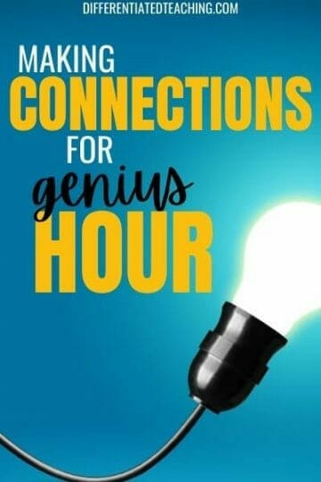 Making connections with experts during genius hour