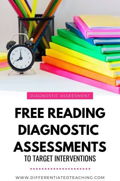 free reading diagnostic assessments to target intervention