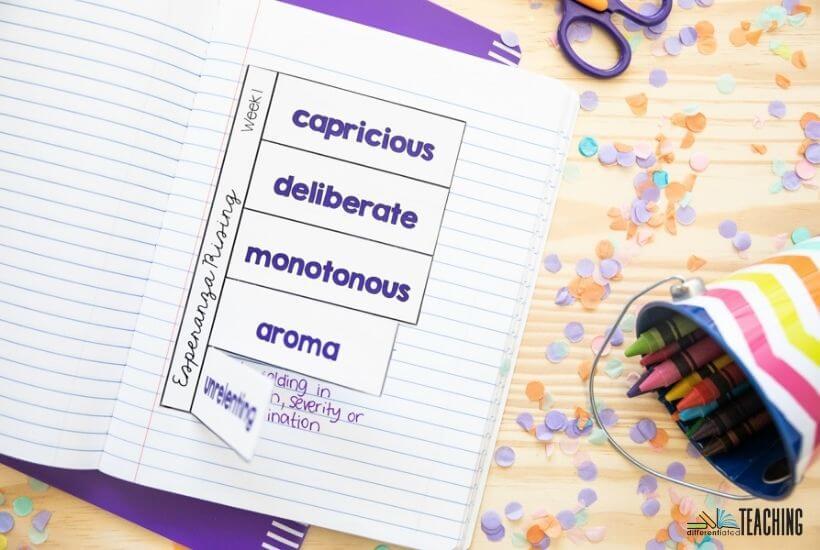 Esperanza Rising Chapter Vocabulary