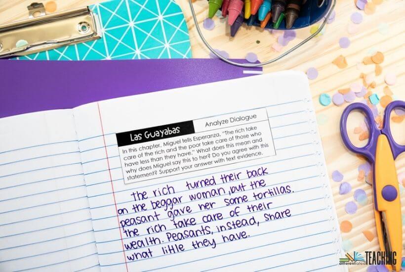 Esperanza Rising Book Study Comprehension Reading Journal Prompts