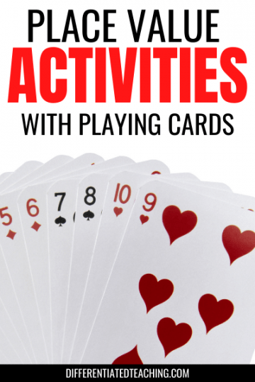 Place Value Activities with Playing Cards