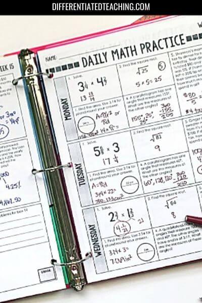 7th grade math spiral - 7th grade math curriculum