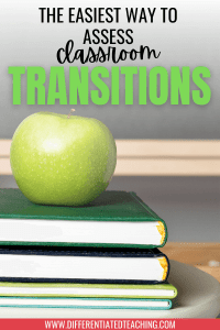 Assessing the efficiency of your classroom transitions