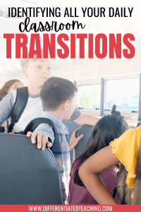 what are transitions in the school day