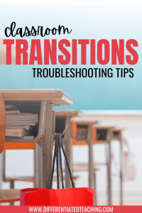 Classroom Transition Troubleshooting