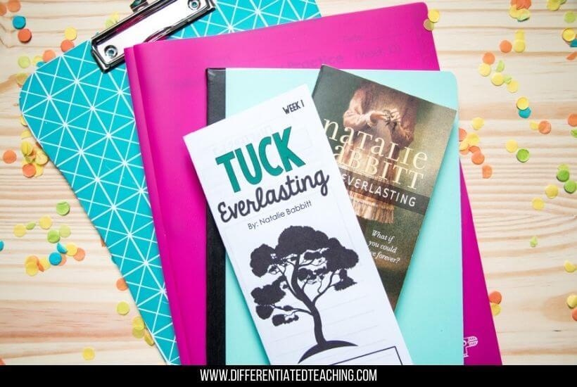 Tuck Everlasting Worksheets for Novel Study
